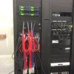 Network cable installation for church auditorium system